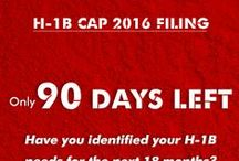 H1B Cap 2016 Red Alerts / Here we offer H1B cap 2016 real time alerts every time an action is required for the timely filing of H1B petitions with the USCIS.