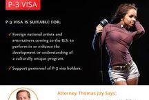Artist Visa USA / Find out about the immigration procedures for foreign artists and entertainers entering the U.S.   Foreign artists are required to obtain an O1 visa for individual artists, P1 visa for entertainment groups, or P3 visa for culturally unique artists.