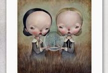 Dilka Bear / Some of my favourite pieces by the incredible Italian surrealist painter Dilka Bear