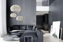archi intérieur / architecture, cuisine, salle de bain, evier, marbre, bois, béton, verre, salon, canapé, maison, villa, télévision, chambre,