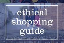 Ethical Shopping Guide / Information on brands and companies that are fair trade, eco-friendly, sustainable, and/or socially conscious. Also, find out why fair trade is so important and the dangers of fast fashion #WhoMadeMyClothes