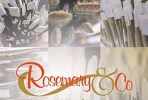 Rosemary & Co / This is a communal board. Please feel free to pin your art work painted with our brushes to this board!
