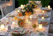 Nice Table Settings / Love to set a nice table / by Joy Moorhead