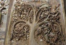 ♔ ART: Wood Artwork / - Wood Sculpture, Antique Carving, Wood Tools, Carved Wood - / by Uℓviỿỿa S.