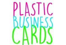 Plastic Business Cards / Plastic laser engraved business cards