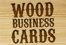 Wood Business Cards / Wood Laser Engraved Business Cards