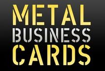 Metal Business Cards / Metal Laser Engraved Business Cards