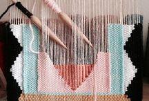 Fiber Art, Weaving... / Vintage Fiber Art Wall Hanging, Textile Wall Hanging, Handmade Weave Wall Art