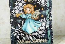 Boże Narodzenie/Christmas / Inspiracje Bożonarodzeniowe na ręcznie wykonane kartki, dekoracje i upominki.  Christmas cards, decorations and gifts.