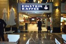 EINSTEIN KAFFEE in Emerald Empire Mall / These designs have been implemented by Art Design Company
