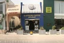 KAFFICHO COFFEE in Sheraton Road, Hurgada / These designs have been implemented by Art Design Company