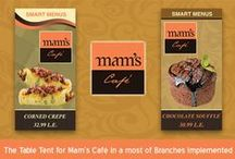 Samples for Works at Mam's Cafe Brand / This Works and Designs have been implemented by Art Design Company