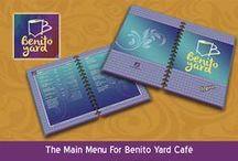 Samples for Works at Benito Yard Cafe Brand / This Works and Designs have been implemented by Art Design Company