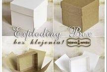 Exploding box / pomysły na aranżację pudełka typu exploding box