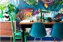 Tendances tropicales et poudrées / Cette année, la maison sera tropicale, une explosion de couleurs qui clignotent, ou ne sera pas. Enfin, ou alors elle sera poudrée tout en pastel , en douceur. #tropical #paste #tendance déco