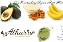 DIY Hair Therapy / Natural hair treatments you can try at home with your own supplies and materials.