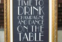 Funny and Cute Wedding or Party Signs / Fun signs are so in style!  Dress up your party or wedding in an affordable with some catchy quips!