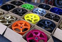 Powder Coated Wheels / Like what you see? Purchase your powder coating at www.mitpowdercoatings.com