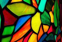 abstract stained glass / interplay of light and colour