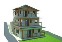 Laurel Design ideas / Conversion of a bungalow, and the redevelopment of a small site in Dominica.