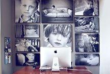 Fotos på vægen