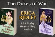 The Dukes of War (regency romance) / The Dukes of War regency-set historical romance series features roguish peers and dashing war heroes who return from battle only to be thrust into the splendor and madness of Regency England.