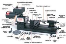 Machine Shop Infographics / Graphic information on tools and machining