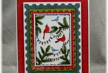 Winter & Christmas #1 / A selection of great craft projects utilizing Prickley Pear Stamps various stamps and dies.