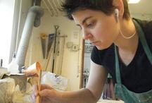 Heather Mae Erickson Ceramic Design / Ceramics, Art, Mold Making, Slip Casting, Porcelain, Plaster, Tableware, Function, Pottery, Place Setting, Table, Craft, Wheel Throwing, Studio, In Progress, Glaze,