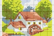 Punto croce - Cross stitch - Punto cruz / Schemi a punto croce Cross stitch patterns Esquemas de punto cruz