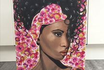 Art / Portraits and landscapes, paint, pastel and charcoal. Acrylics, fabric, hair, face, art