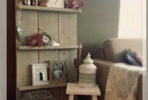Www.Candlewood.nl / Interieur kaarsen (steiger)houten meubelen
