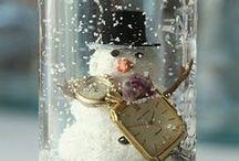 Manualidades Globos de nieve