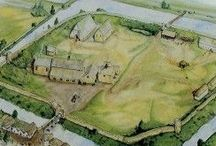 Motte and Bailey castles / Just like our very own Norman Oakham Castle (1180 -1190)