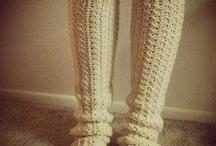 Crochet socks & legwarmers