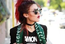 "ALPHA GYPSY X LE-HAPPY / Alpha Gypsy scarves feature in ""LE-HAPPY"""