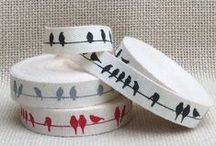 Bahia Art Cotton Ribbon / We use 100% natural cotton in various widths to silk screen our designs on.  All silk screening are done by hand. Visit our website, www.bahiart.co.za to view our full selection.