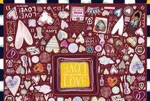 Valentine's Day 2014 - Alpha Gypsy's capsule collection. / Alpha Gypsy's Valentine's Day 2014 Luxury scarves collection, THE PERFECT! Valentine's Day gift, Romantic & Colorful luxury silk scarf.