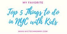 NYC FUN with Kids / Family friendly FUN places to visit in NYC. New York with Kids on a budget.