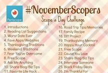 NovemberScopers / Here we are once again! September Scopers was started by Lauren from WorkingMomMagic.com and Julie from GirlOnTheMoveBlog.com and its continued into October and now November.  Join us on Periscope for #NovemberScopers and be part of this amazing community! Oh yeah and learn to Periscope LIKE A BOSS too! - Below you will find inspirational blogs by #NovemberScopers