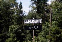 La signalétique du mariage / Comment aller de l'église au lieu de réception pour le mariage de Claire et Gaétan