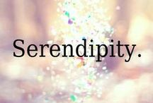 """Serendipity! / Serendipity means a """"happy accident"""" or """"pleasant surprise"""" ... specifically, the fortunate finding of something good, useful, or agreeable (also beautiful, cute, or melt your heart) while not specifically searching for it. I experience serendipity every time I'm on Pinterest!"""