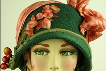 """Vintage Fashion: Hats/Hat Pins/Boxes / 1800-1960 hats, hat pins, cloches, bonnets, bandeaus, fascinators, turbans, turban decor, headdresses, hoods, caps, snoods, hat boxes, """"hair"""" cloches, and other head wear. / by Barb Smith"""