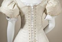 Vintage Fashion: Lingerie / Women's underwear or undergarments worn next to the skin and under outer garments.