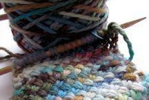 knitting + one day...crocheting