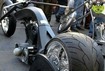 Two Wheels or three! / Two wheel motor bikes, bicycle's and trikes. / by Paul Kotajarvi