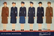 Vintage Fashion: Uniforms / Uniforms Worn by Men and Woman in Performance of Their Job/Position or as a Member of an Organization. / by Barb Smith