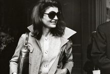 Jackie O: Fashion Icon / Jackie Kennedy Onassis was a fashion icon who exuded coolness with her understated, approachable and elegant style, love of everything black and those ever present sun glasses.... / by Tailor And Stylist
