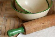 Gram's Green & White Kitchen