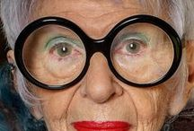 """Stylish Seniors: Iris Apfel, et al. / I love seeing a fashionably dressed """"mature"""" lady or gentleman. For me, the poster child for senior style is Iris Apfel, born in 1921, and still going strong. She not only dresses well ... she accessorizes well. Besides her trademark glasses, I love how she wears bold, over-sized necklaces and bracelets ... usually several of each at one time. The men and women on this Board are true inspirations for dressing with enthusiasm!"""